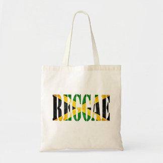 reggae com bandeira de jamaica sacola tote budget