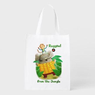 Reggae da selva sacolas ecológicas para supermercado