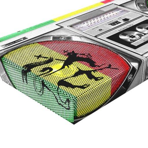 reggae do boombox impressão em canvas