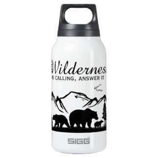 Região selvagem chamada garrafa de água térmica