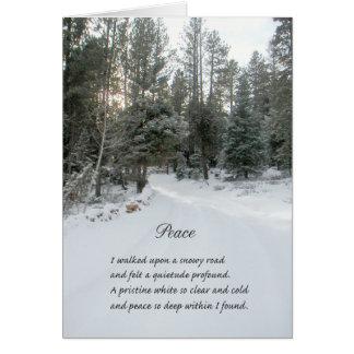 Região selvagem e cartão do feriado do poema da