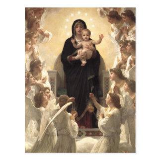 Regina Angelorum por Bouguereau, anjos do Cartoes Postais