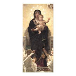 Regina Angelorum por Bouguereau, anjos do 10.16 X 22.86cm Panfleto