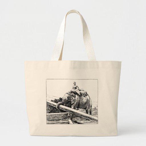 Registo do elefante bolsa para compras