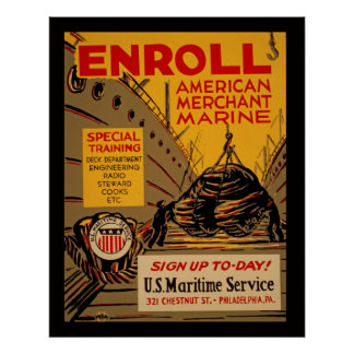 Registre o poster americano de WPA do vintage do