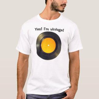 Registro de vinil camiseta
