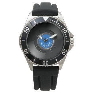REGISTRO de VINIL | com monograma ou texto Relógios De Pulso