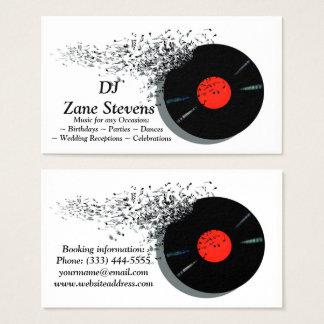 Registro de vinil do disco-jóquei do DJ do Cartão De Visitas
