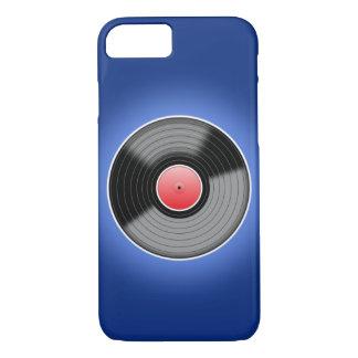 Registro de vinil na caixa azul do iPhone 6 Capa iPhone 7