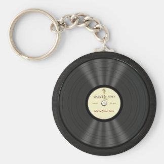 Registro de vinil personalizado do microfone do chaveiro