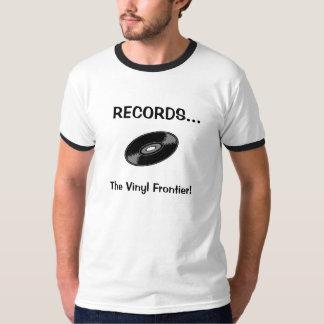 REGISTROS… A fronteira do vinil! Camiseta