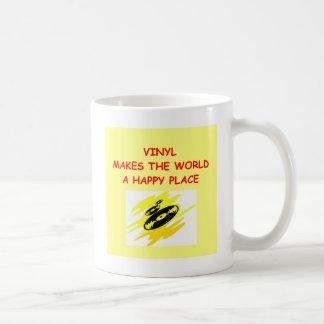 registros de vinil caneca de café
