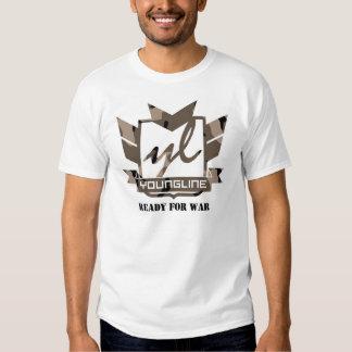 Registros de Youngline: Apronte para a guerra Tshirts