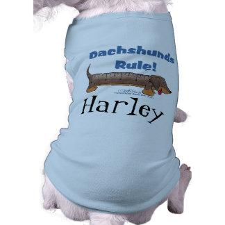 Regra dos Dachshunds Camisa Sem Mangas Para Cachorro