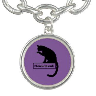 Regra dos gatos pretos braceletes com pingentes