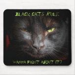 Regra dos gatos pretos mouse pad