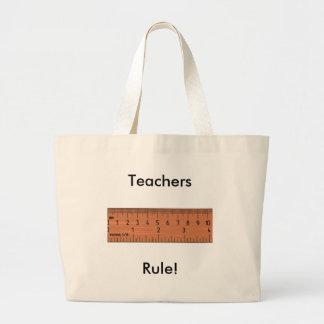 Regra dos professores! sacola tote jumbo