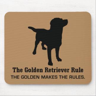 Regra Mousepad do golden retriever