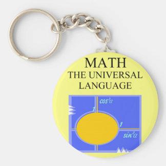 regras da matemática chaveiro