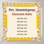 Regras da sala de aula do professor/objetivos - SR Poster