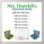 Regras da sala de aula do professor por SRF Impressão