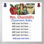 Regras da sala de aula do professor. por SRF Impressão
