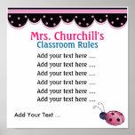 Regras da sala de aula do professor. por SRF Posters