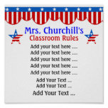 Regras da sala de aula do professor por SRF Poster