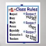 Regras de classe: Respeito Posteres