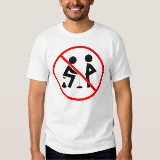 Regras de conduta t-shirts