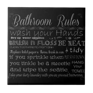 Regras do banheiro azulejo de cerâmica