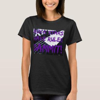 Regras do t-shirt das mulheres das estrelas do camiseta