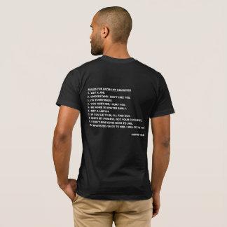 Regras para datar meu t-shirt da filha para pais camiseta