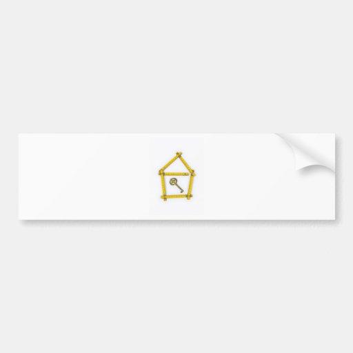régua de dobradura, forma da casa e chave adesivos