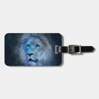 Rei Bagagem Tag do leão com correia de couro Tag De Bagagem