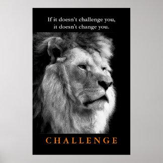 Rei branco Leão do preto inspirador do desafio Poster