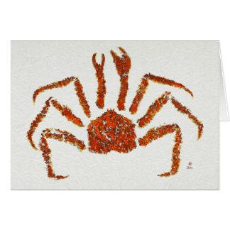 """Rei caranguejo - 7"""" x 5"""" cartão da arte"""