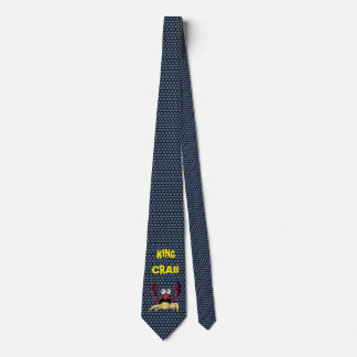Rei caranguejo dos desenhos animados gravata