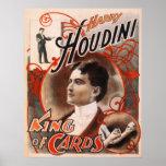 Rei Cartão de Harry Houdini Pôsteres