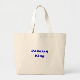 Rei da leitura bolsas de lona