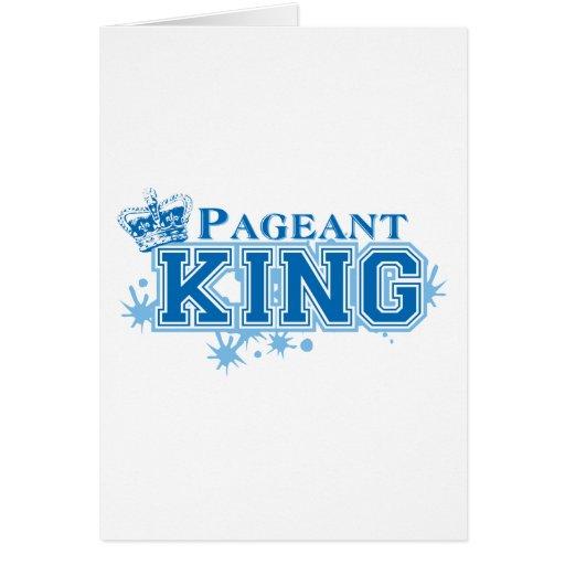 Rei da representação histórica cartões