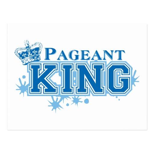 Rei da representação histórica cartão postal