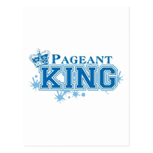 Rei da representação histórica cartao postal