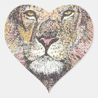 Rei da selva adesivo coração