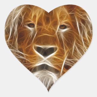 Rei da selva electrificada adesivos em forma de corações