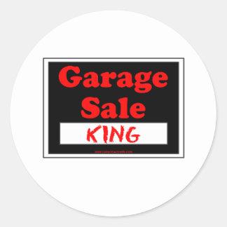 Rei da venda de garagem adesivo
