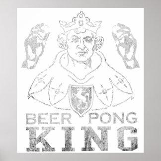 Rei de Pong da cerveja Pôster