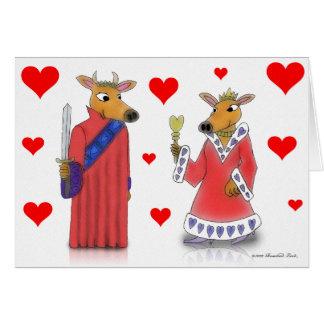 Rei do boi e rainha do cartão dos namorados dos