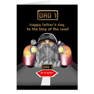 rei do cartão de carro do dia dos pais da estrada