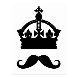 Rei do cartão do costume dos bigodes